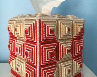 Cubierta de caja del tejido sudoeste por CorsandsCreations en Etsy