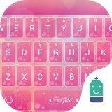 Pink Love Heart Theme&Emoji Keyboard