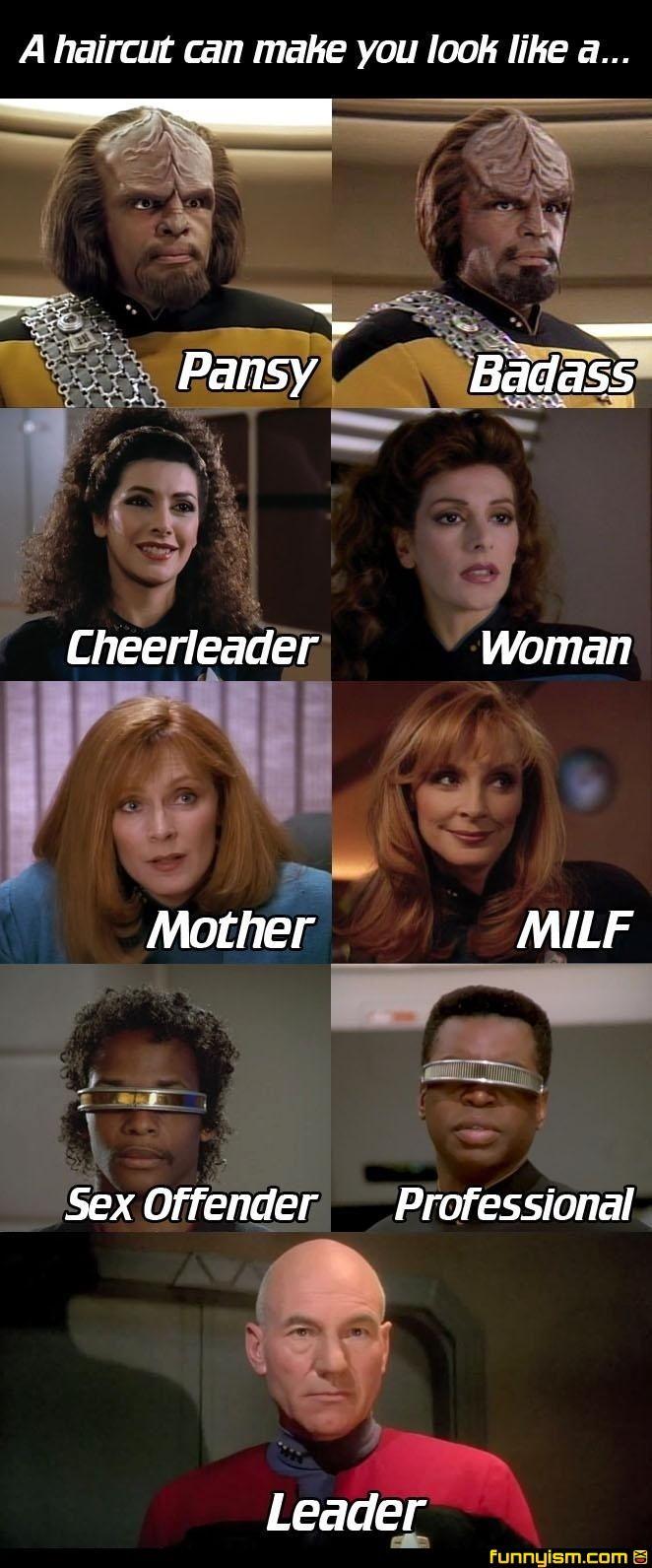 Hair styles of Star Trek: The Next Generation