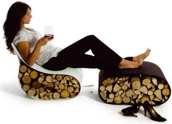 ideen für brennholzlagerung AK47 möbel