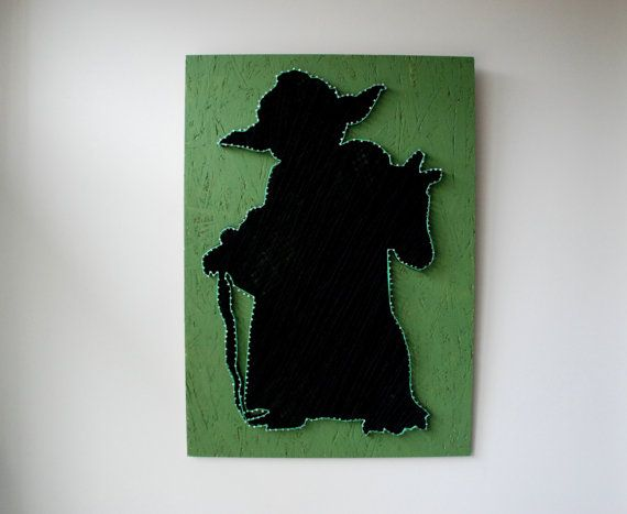 Star Wars Master Yoda String Art Wall Decor by FILATURE on Etsy