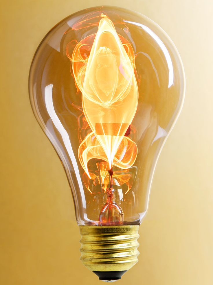 "Beautiful ""Electric Flame"" Carbon Filament Light Bulb - 15 Watt bulb $14.29"