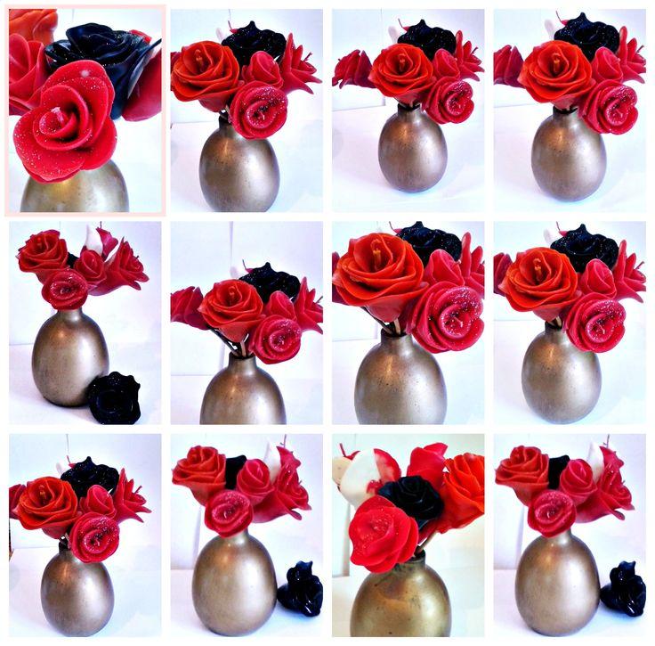 Lumanari-trandafir