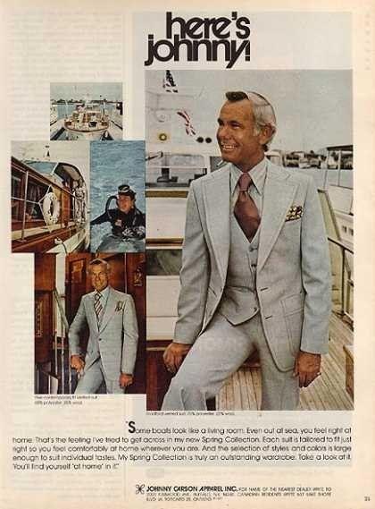 Johnny Carson Apparel Inc. 1977 : vintageads