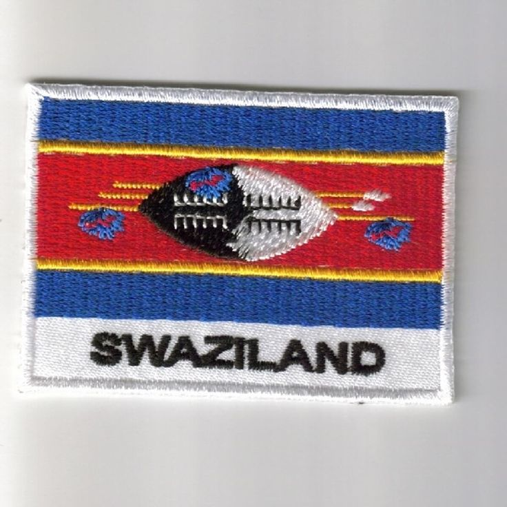 FLAG PATCH PATCHES Swaziland IRON ON COUNTRY EMBROIDERED WORLD FLAG