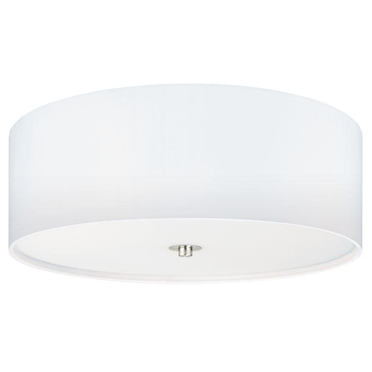 Plafon LAMPA sufitowa PASTERI 94918 Eglo okrągła OPRAWA abażurowa biała
