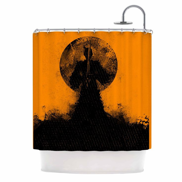 The 25 Best Ideas About Orange Shower Curtains On