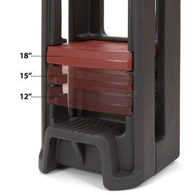 Simplay3 Toddler Tower Adjustable Kitchen Stool Wayfair In 2020 Kitchen Step Stool Adjustable Stool Step Stool