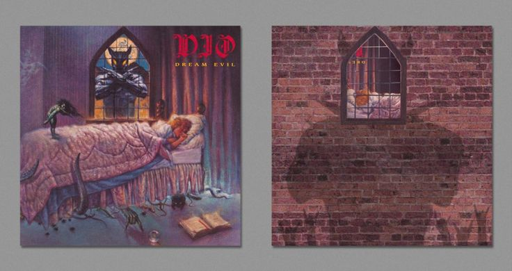 """Iconic Album Covers Reimagined To Show Their """"Dark Side"""" - Dio – """"Dream Evil"""" (1987)"""