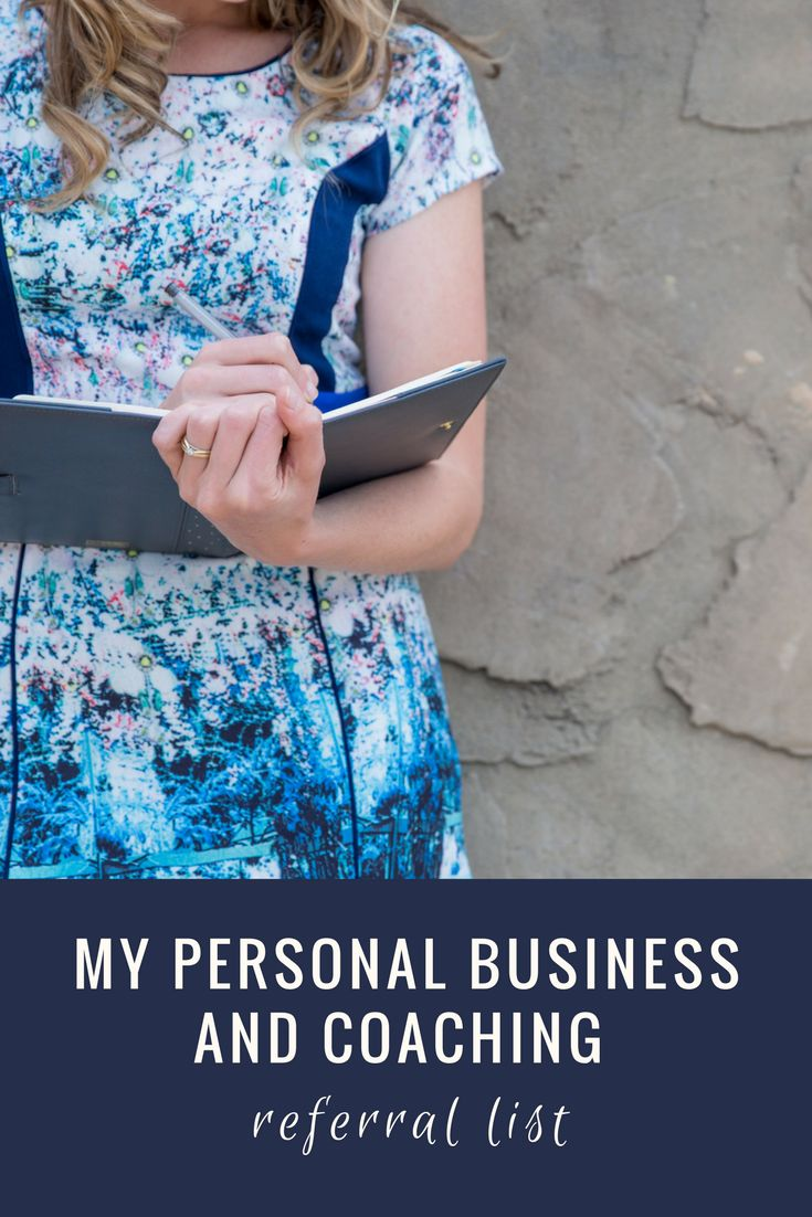 I often get asked for business and coaching recommendations and referrals, so thought I'd include a list for your reference.