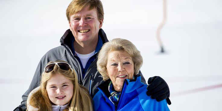 Hiep hiep hoera voor prinses Beatrix en wat lijkt deze kleindochter op haar!