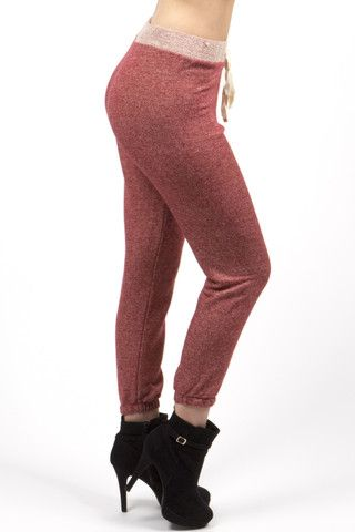 Red Light Weight Jogger Pixie Pant - Classy Red Jogger Pant