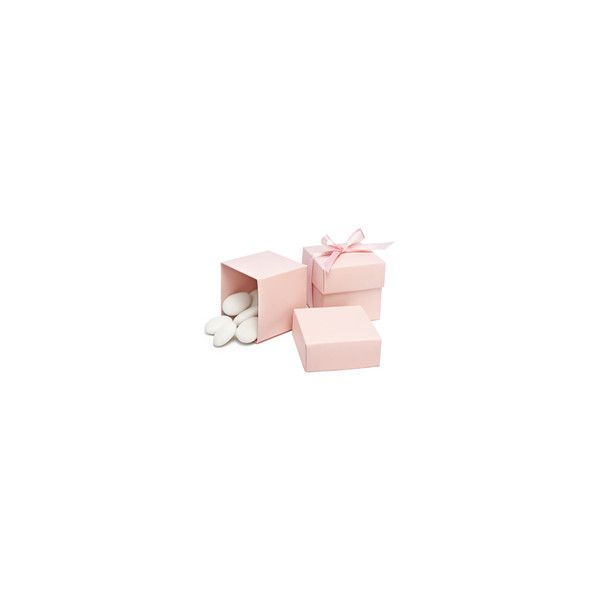 Square Favor Boxes - Pink - Favor Boxes - The Knot Wedding Shop (505 DKK) found on Polyvore