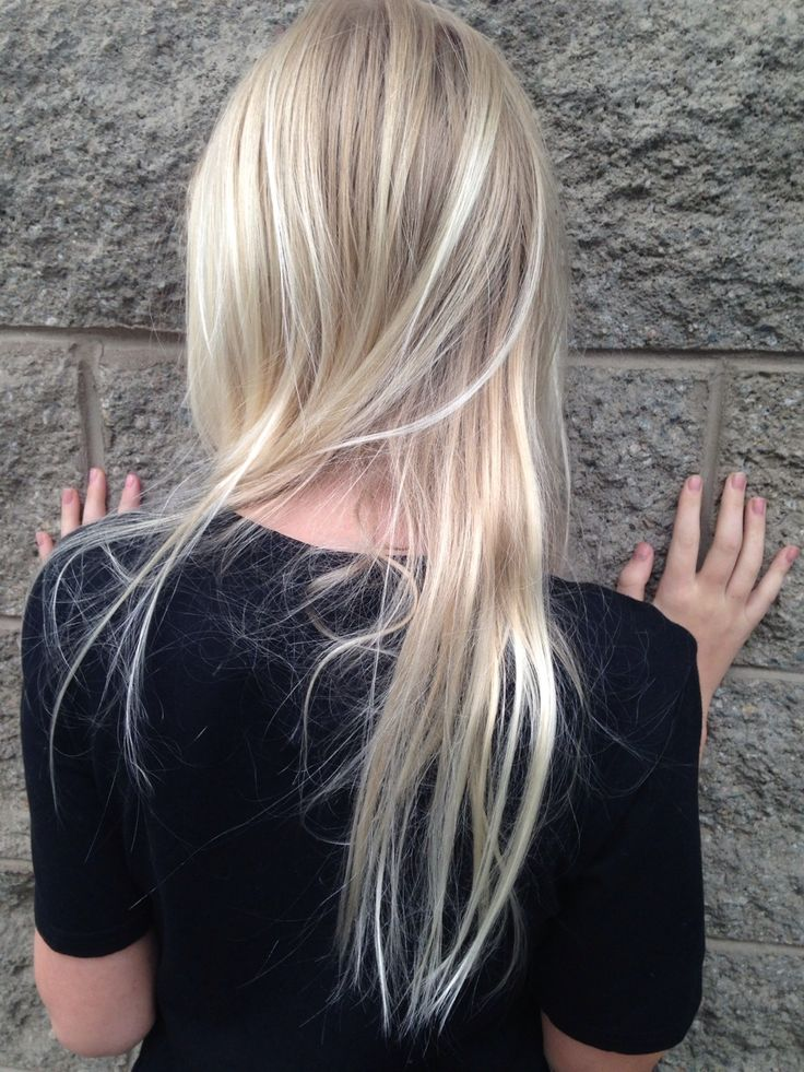 Pale blonde with highlights