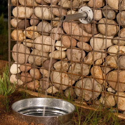 Gabion Wall Design Ideas, Pictures, Remodel, and Decor