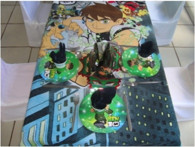 Ben 10 kiddies theme party at Stonehaven on Vaal - one of the variety of themes to choose from at Stonehaven.