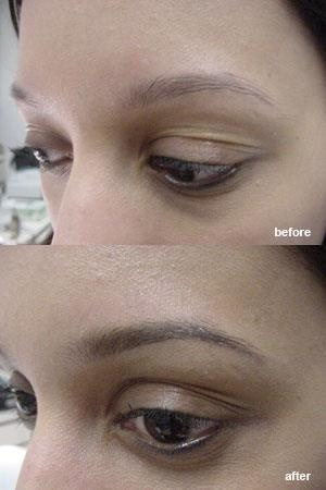 Doesn't the Beautiful Brows make-up highlight the brow bone of this girl? Looks lovely!