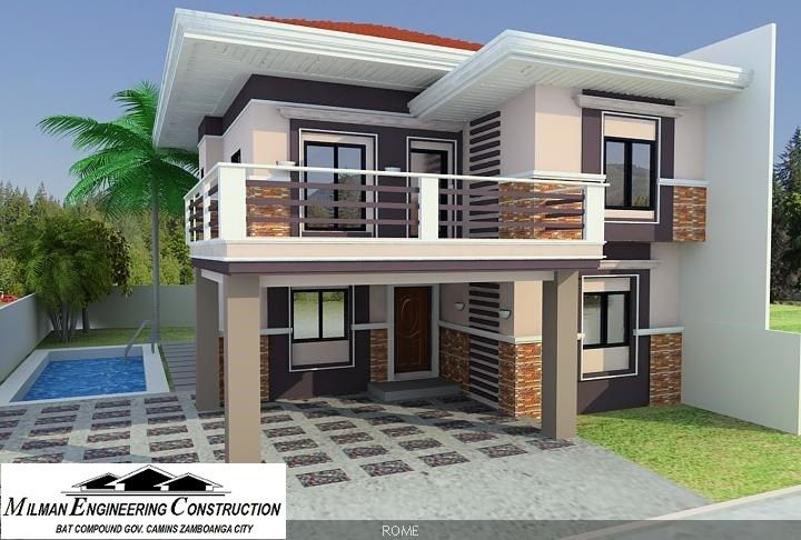 Milman Engineering Construction Has Shared A News Post New Model House To Be Constructed O Philippines House Design Simple House Design Two Story House Design