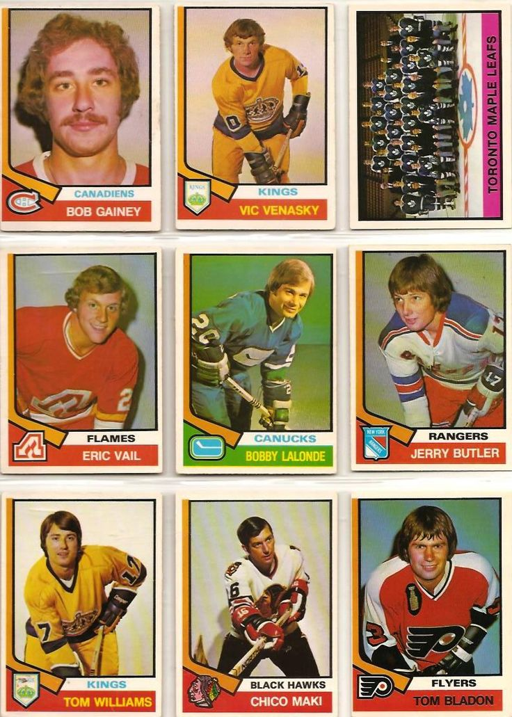 388-396 Bob Gainey, Vic Venasky, Toronto Maple Leafs, Eric Vail, Bobby Lalonde…