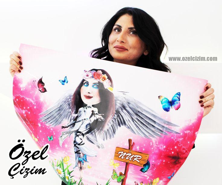 Doğum günü hediyesi :)  #ozelcizim #ozel #cizim #karikatur #sanat #hediye #dogumgunu #dogumgunuhediyesi #resim #surpriz #melek