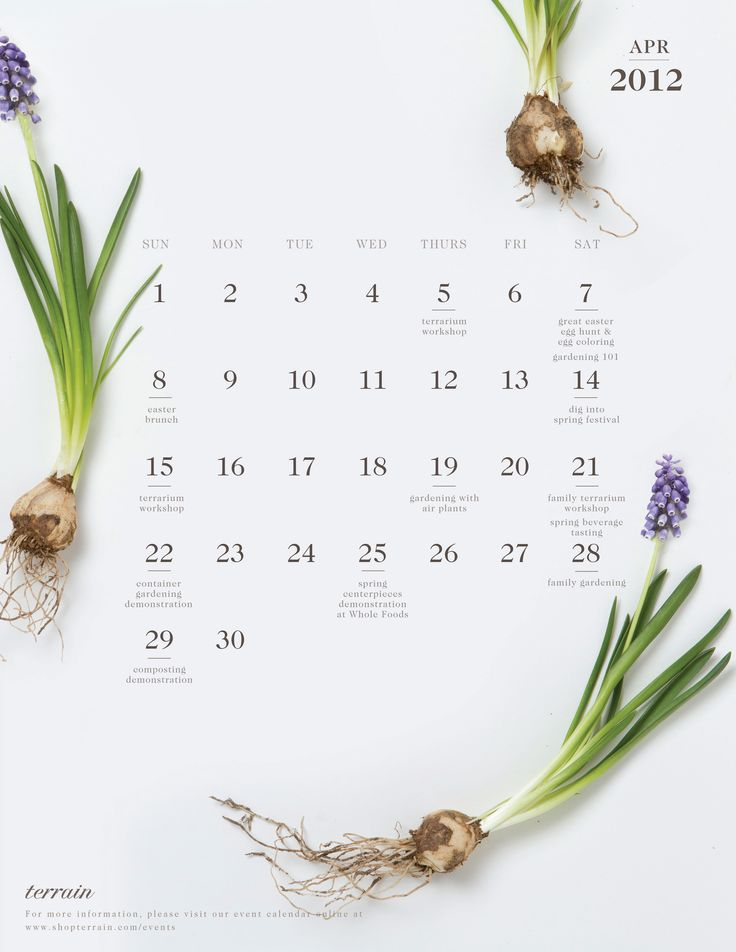 Our April Calendar