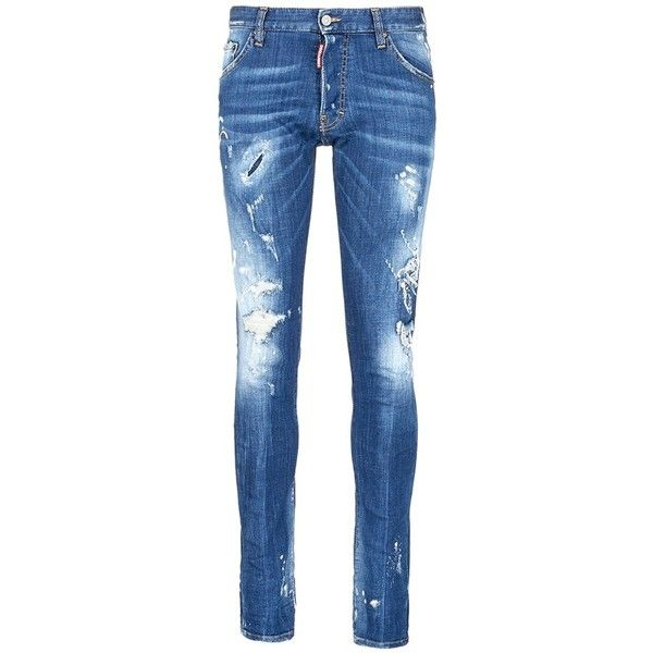 Dsquared2 'Cool guy' ripped skinny jeans (1.970 BRL) ❤ liked on Polyvore featuring men's fashion, men's clothing, men's jeans, blue, mens ripped skinny jeans, mens distressed skinny jeans, mens destroyed jeans, mens distressed jeans and mens torn jeans