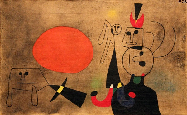 """The unique, whimsical sense of color and line exhibited by Miro always delights me. Just does. This painting, """"Woman at Sunrise,"""" is in the Nelson-Atkins Museum in Kansas City, so I get to visit it often. And I do."""