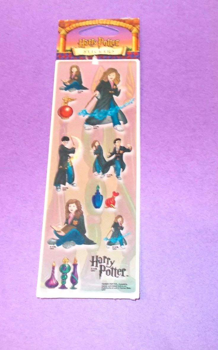 Harry Potter stickers sheet all night media Plaid two sheets UPC 0 84200 37082 8 memory books scrapbooking cardmaking crafts characters by NoodlesNotions on Etsy