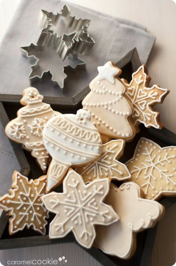 Christmas cookies - one color