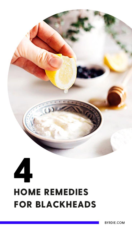 DIY recipes to get rid of blackheads