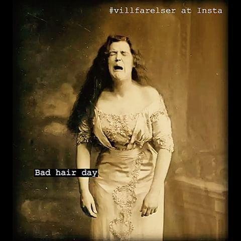 #bad #hair #day #badhairday #hår #frisyr #brud #tjej #kvinna #frisyr #humor #ironi #skoj #kul #löjligt #fånigt #text #foto
