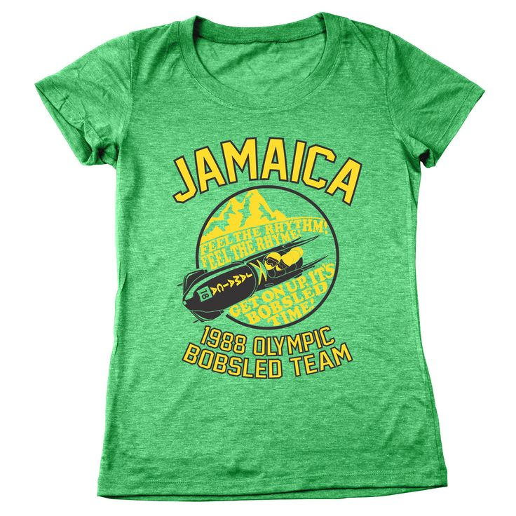 Jamaica 1988 Olympic Bobsled Team Women's Tri-Blend T-Shirt