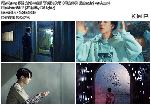 MV] BTS – Fake Love (Extended Ver ) [YouTube HD 1080p] | BTS