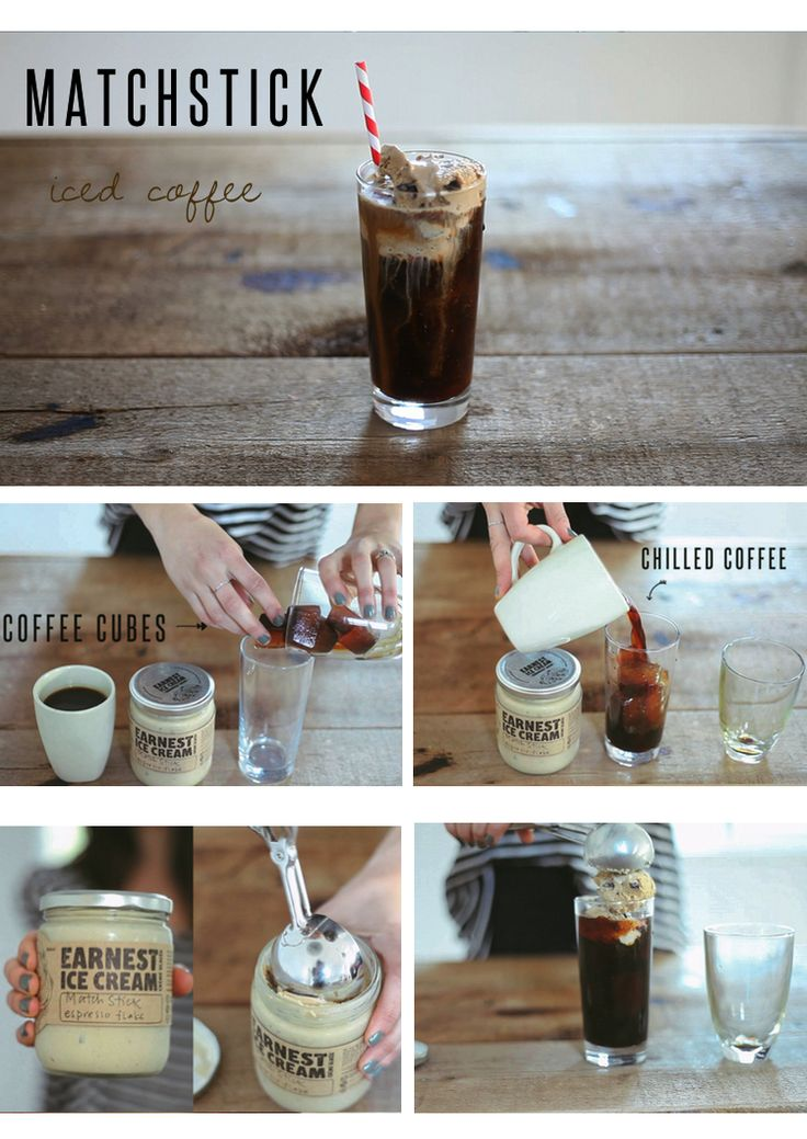 Iced coffee drink! Can't wait to be sipping on these when the sun comes out, all summer long!