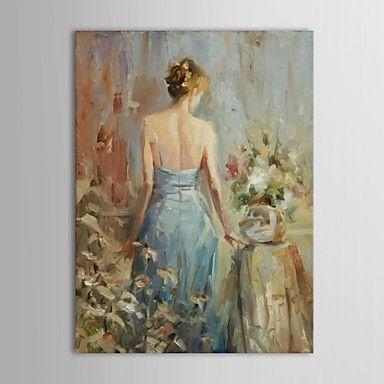 現代アートなモダン キャンバスアート 絵 壁 壁掛け 油絵の特大抽象画1枚で1セット スティーブ ヘンダーソン 女性 水色 ドレス キャミ 背中 ポニーテール 【納期】お取り寄せ2~3週間前後で発送予定【送料無料】ポイント