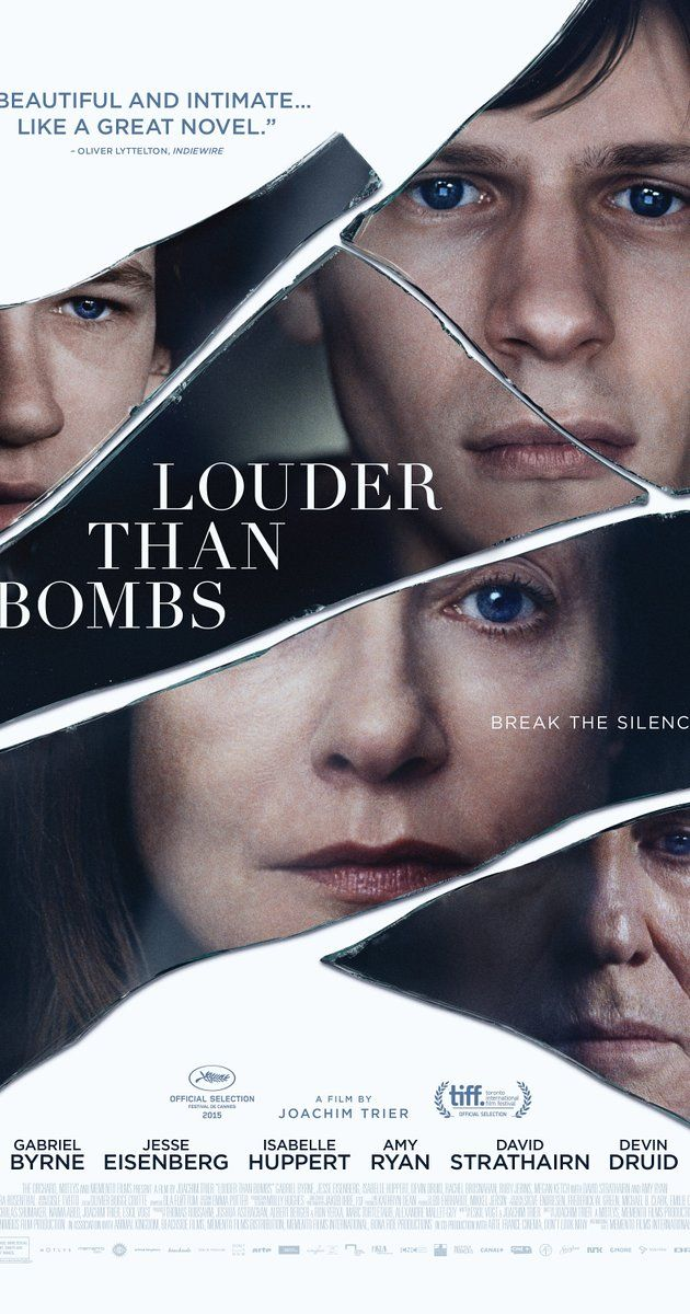 #LouderthanBombs. Almost everyone's sort of a terrible person in this film, which is its strength: it's it a brutally frank portrait of family life. Each of the characters are laid bare in their glaring imperfections, and their own way of coping with grief. Isabelle Huppert is stunning as a charismatic war photographer. Quiet and stirring. Rating:****