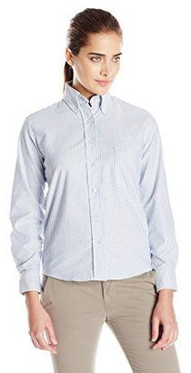 Red Kap Women's Executive Oxford Dress Shirt - Shop for women's Shirt - Blue/White Stripe Shirt