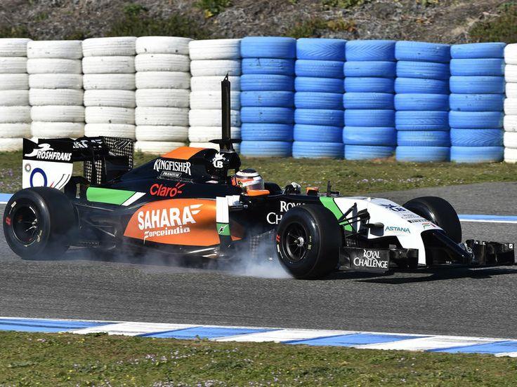Nico Hulkenberg in the 2014 Force India F1 car