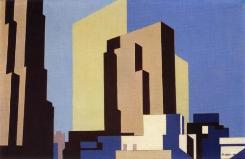 Charles Sheeler New York No. 1 , 1950 oil on canvas 13 x 20 inches