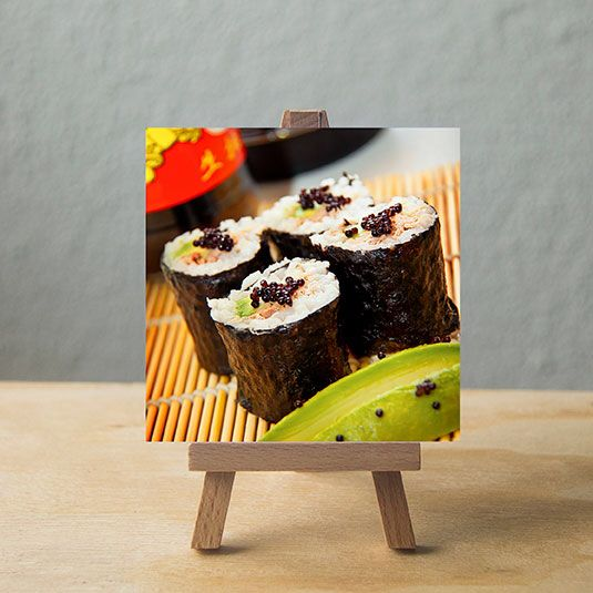 Sushi art. Small art for big people. Visit www.vindeasel.com @vindeasealart