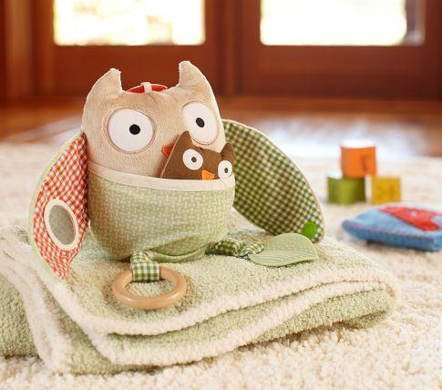 Okay- verging on obsession, but still cute.: Owl Toys, Owl Baby, For Kids, Pottery Barn Kids, Baby Toys, Farms Hugs, Hiding Owl, Nurseries Farms, Pottery Barns Kids