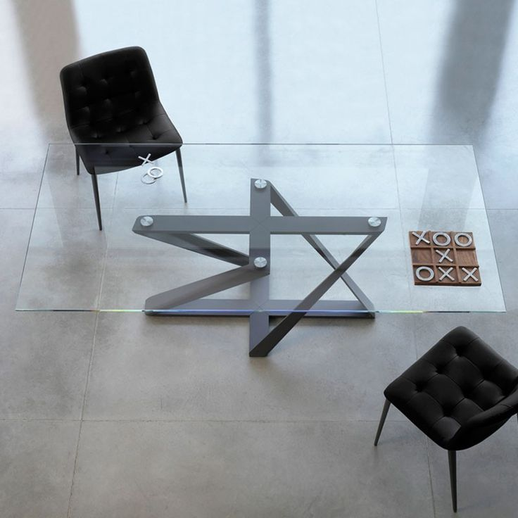 Bontempi Casa Millennium Fixed Table - Glass   Harrogate Interiors
