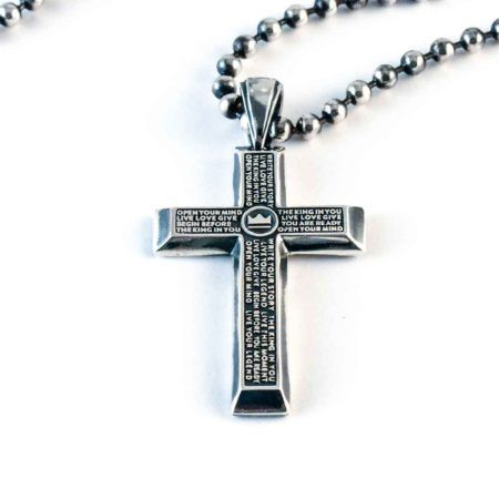 Cross Necklace by Jensen Reign. The Pillar Cross on 5mm Ball Chain - 72 grams of Solid 925 Silver. Unapologetic You. Be the King in You #jrlife