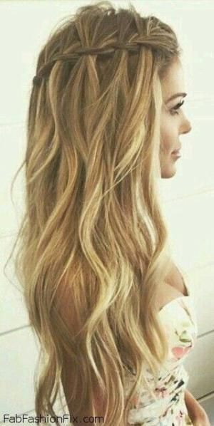 Terrific 1000 Ideas About Waterfall Braid Curls On Pinterest Waterfall Hairstyle Inspiration Daily Dogsangcom
