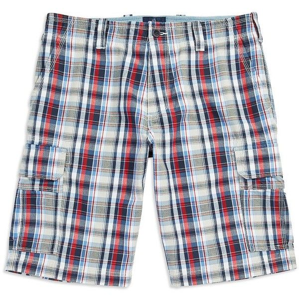 Bugatti Plaid Cotton Shorts (1.340.805 IDR) ❤ liked on Polyvore featuring men's fashion, men's clothing, men's shorts, grey, mens cotton shorts, mens plaid shorts and mens grey shorts