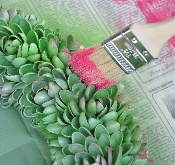 faux succulent pistachio nut wreath, crafts, wreaths