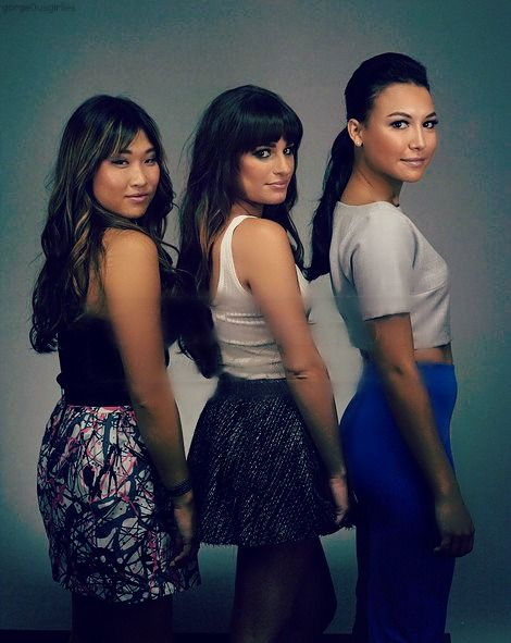 Jenna Ushkowitz, Lea Michele, and Naya Rivera.