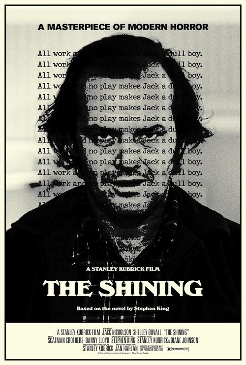 The Shining (1980) - Stanley Kubrick.  Shining. The best psycho horror movie I have ever seen, Jack Nicholson at his best.