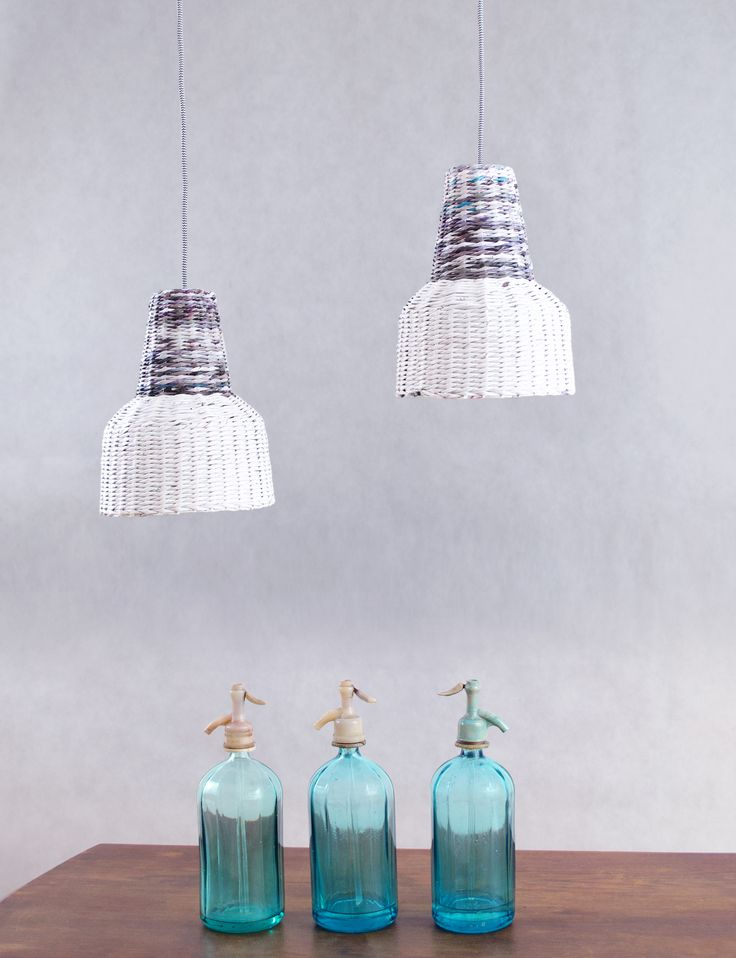 Scandinavian interior design / nordic style / industrial style / white hanging lamp / eco lamp