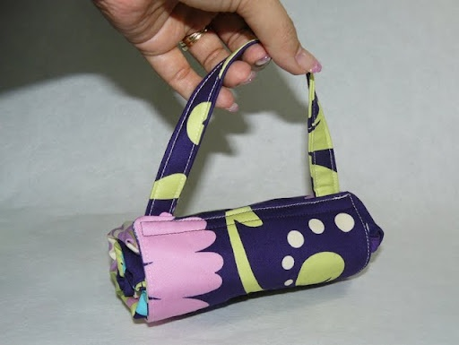 Fold-away shopping bags with a small addition by Crafty Ady